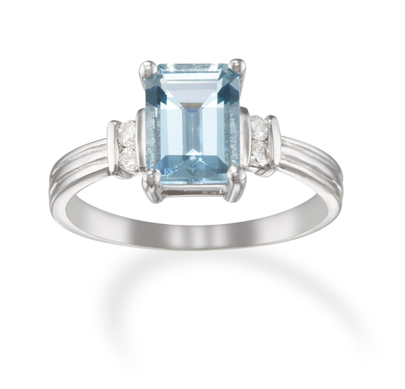 Aquamarine rings lowest prices